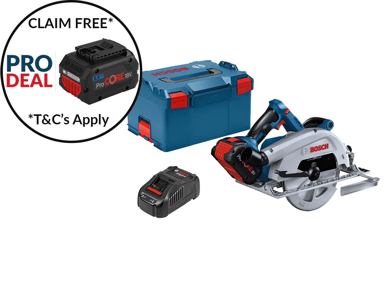 Bosch Gks 18v 68 C 18v 1x5 5ah 190mm 18v Circular Saw Kit
