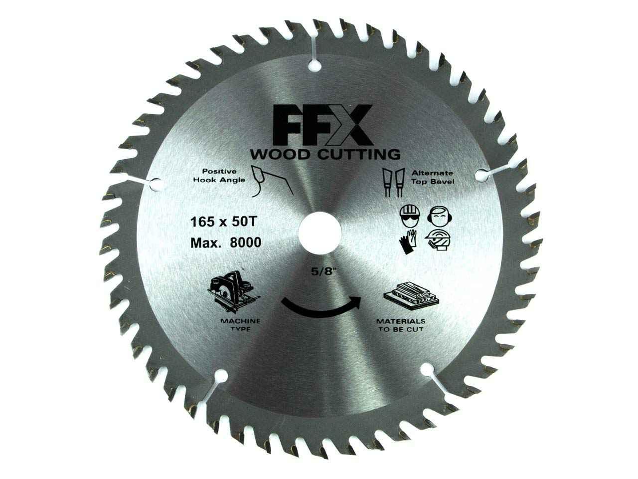 Ffx Qq0102500250 165mm X 16mm X 50t Tct Circular Saw Blade