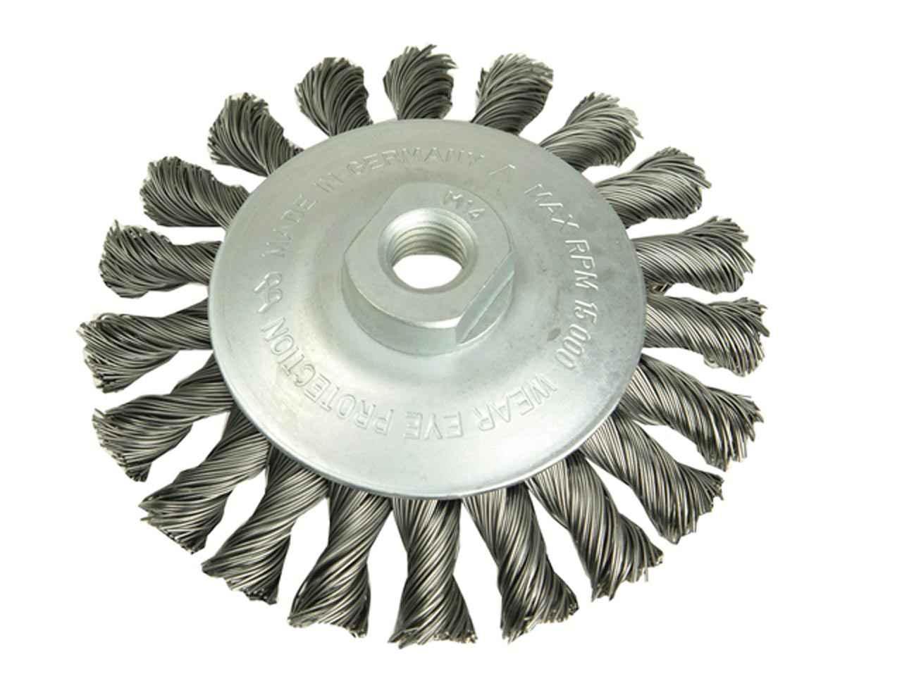 Lessman LES424367 cup brush 80 x M14 x 2.00 x 0.30 en acier inoxydable