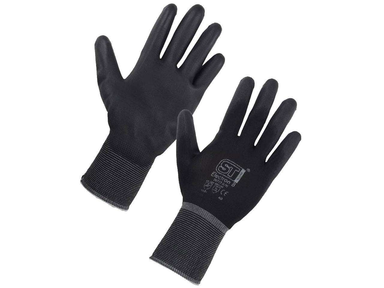 extra large Handmax Atlanta 10 XLPK 6 FFX Atlanta noir PU gants taille 10 x 6