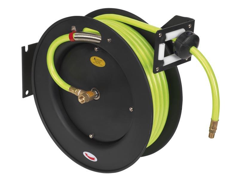 Sealey AHFC 1038 air flexible haute visibilité 10M x 10mm avec 1//4in bsp syndicats