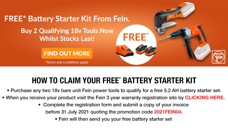 Fein Free Battery Starter Kit
