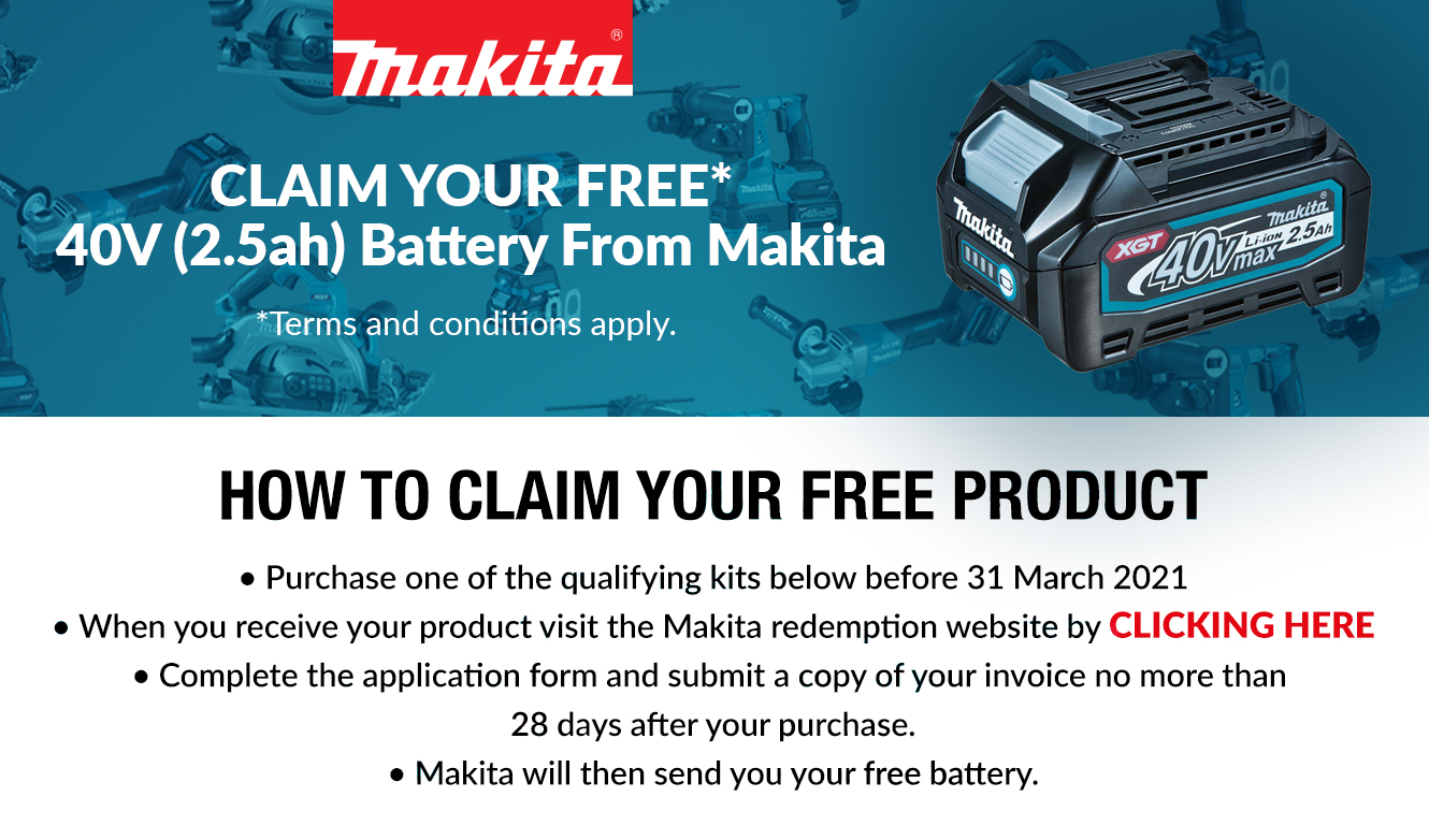 Claim Your Free Makita Products